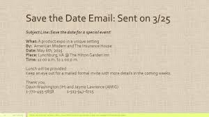 save the date emails into with american modern insurance let us
