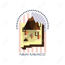 map of new mexico state royalty free cliparts vectors and stock