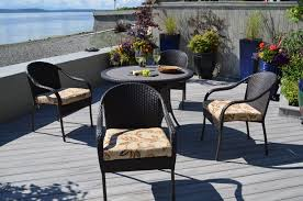 Wicker Patio Dining Set - patio furniture san marcos home and interior
