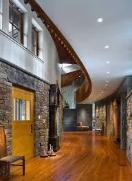 fabulous hallway decor at lakewood house applied stone wall