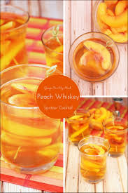 georgia on my mind peach whiskey spritzer cocktail this mama