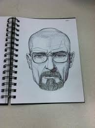 attempt at drawing walter white from breaking bad pics