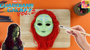 how to make a gamora mask from guardians of the galaxy paper