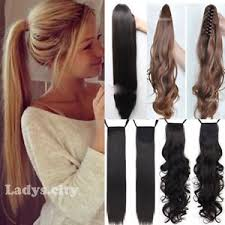 one clip in hair extensions one tie up binding ponytail clip in hair extension synthetic