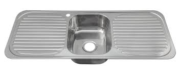 Inset Stainless Steel Single Bowl Kitchen Sink With  Drainers - Double drainer kitchen sink