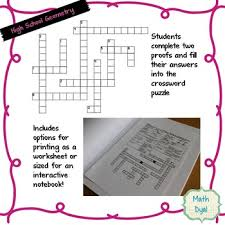 Cpctc Worksheet Answers Triangle Congruence Cpctc Geometry Proofs Crossword Puzzle By Math