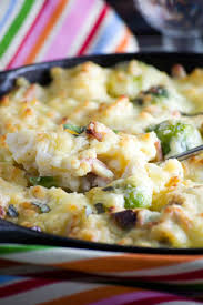 leftover turkey bacon and brussels sprouts macaroni cheese