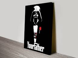 this quirky star wars meets the godfather pop art makes unusual