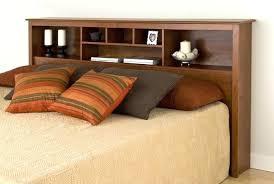 bed frame with bookcase headboard wood storage bookcase headboard