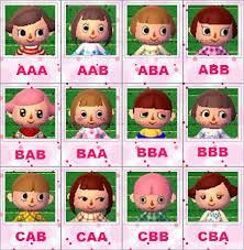 girl hairstyles animal crossing new leaf image result for acnl eye color guide acnl pinterest