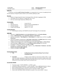 Sap Abap Sample Resume by Resume For Sap Abap Fresher Free Resume Example And Writing Download