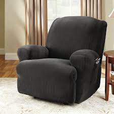 Sure Fit Club Chair Slipcovers Sure Fit Stretch Pinstripe T Cushion Recliner Slipcover U0026 Reviews