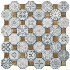 Floors And Decors Merola Tile Tessera Blue 12 1 4 In X 12 1 4 In Ceramic Floor And