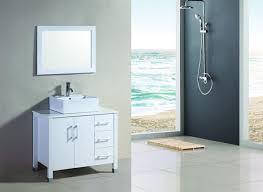 36 Bathroom Vanity by 36 Inch Single Vessel Sink White Bathroom Vanity U 1036 W