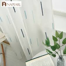 online get cheap simple rooms aliexpress com alibaba group modern geometric faux linen curtain semi sheer jacquard curtain drop striped simple tulle curtain living room custom made ready