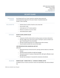 security officer resume skills resume for your job application