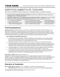 sample of teaching resume substitute teacher resume cryptoave com sample resume for substitute teacher sample resume format substitute teacher resume