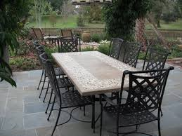 stone patio table top replacement stone top dining table with outdoor chairs from bay breeze stone