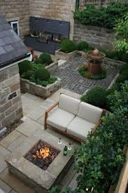 outdoor kitchen and fire pit urban courtyard for inspired garden