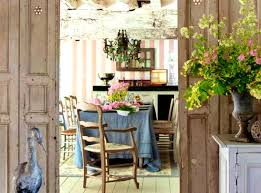 French Country Dining Room Ideas Accessories Interesting Shabby Chic Octagon Kitchen Astonishing
