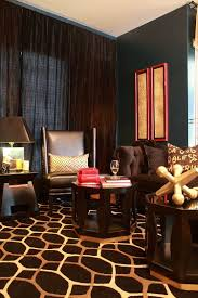 browns steal the show in this eclectic living room design natalie