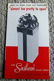sasheen ribbon vintage 1950s brochure sasheen ribbon magic bow gift wrap phlet