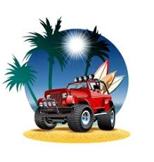 beach jeep surf surf jeep vector images 18