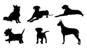 free silhouette images free dog vectors vecteezy