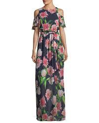 eliza j dresses eliza j floral print cold shoulder maxi dress