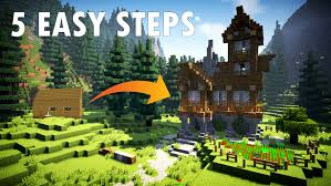 5 easy steps tips to build a better minecraft house youtube