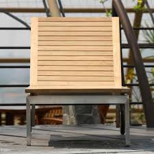 Outdoor Lounge Chair Siro Teak And Stainless Steel Outdoor Chaise Lounge Chair Outdoor