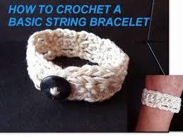 crochet bracelet diy images Crochet basic string bracelet button on bracelet how to diy jpg