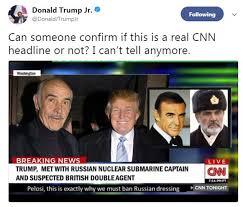 Sean Connery Memes - donald trump jr mocks cnn in tweet asking if meme headline is real