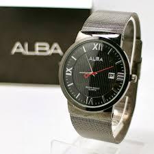 Jam Tangan Alba Jogja jual jam tangan cowok di jogja jam tangan alba pasir 8276 hitam