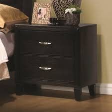 coaster nacey two drawer nightstand with metal hardware coaster