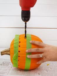 halloween tape how to make a pretty fretwork pumpkin hgtv