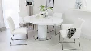 round dining room tables for 6 round white gloss extending dining table pedestal base