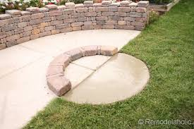 Brick Fire Pits by Diy Rumblestone Seat Wall And Fire Pit Kit Installation