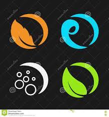 four elements air water earth nature circular