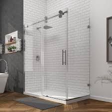 Bathtubs With Glass Shower Doors Shop Bathtub Shower Door Glass At Lowes