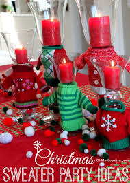 Party Centerpieces 50 Ugly Christmas Sweater Party Ideas Oh My Creative