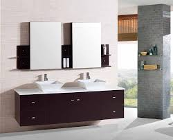 Wall Mounted Bathroom Vanity Cabinets by 72 Inch Wall Mounted Double Espresso Wood Bathroom Vanity