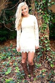 dresses with boots beautiful country wedding dresses with boots and lace dress