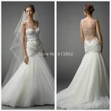 expensive wedding dresses aliexpress buy 2017 new sleeveless mermaid beadings crystals