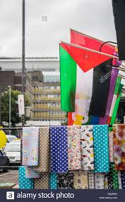 Flags For Sale In Ireland A Palestine National Flag On Sale At A Shop On Belfast U0027s Falls
