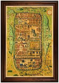 Map Of Jerusalem Map Of Jerusalem At The Time Of Christ 1584 Framed