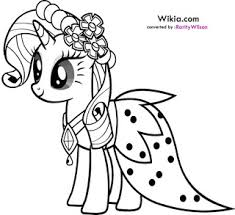 pony rarity coloring pages minister coloring