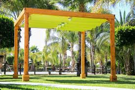 Pre Made Pergola by Retractable Shade Canopy Pergola Kit Custom Made From Redwood