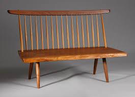 George Nakashima Furniture by George Nakashima Bench Cottone Auctions