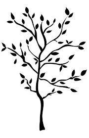 black tree mural wall decals leaves branches stickers